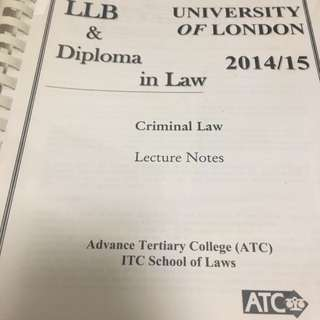 UOL LLB Criminal Law notes from Poly U Speed