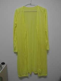 長版罩衫(螢光黃色)