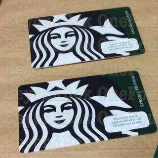 Starbucks (2 Cards) Siren Black Green Collectibles