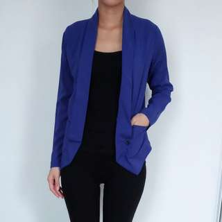 Electric Blue Casual Outer