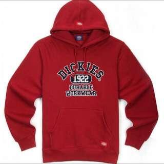 全新 Dickies 正版深紅色帽T
