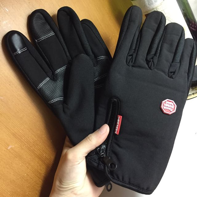 防風保暖可觸控機車手套