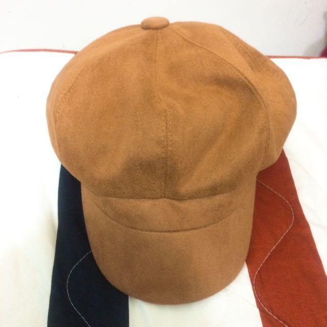 麂皮報童帽