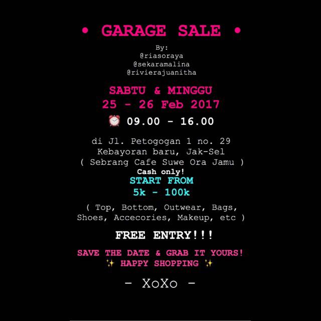• GARAGE SALE 25-26feb •