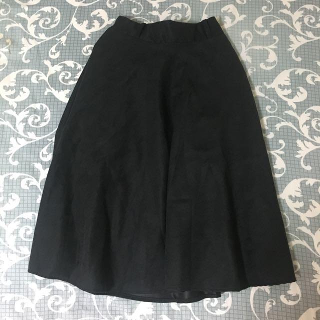 黑色A字散裙