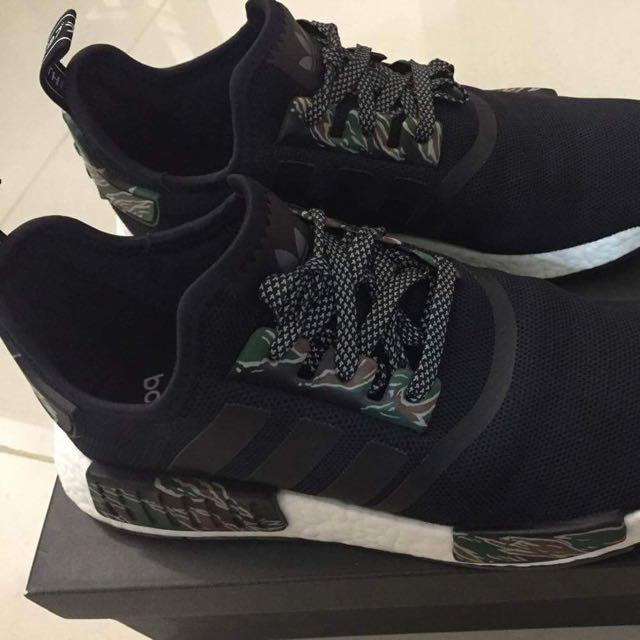 3c913b8cacd4 Adidas NMD R1 Monochrome Reflective Black (CUSTOM) green camo ...