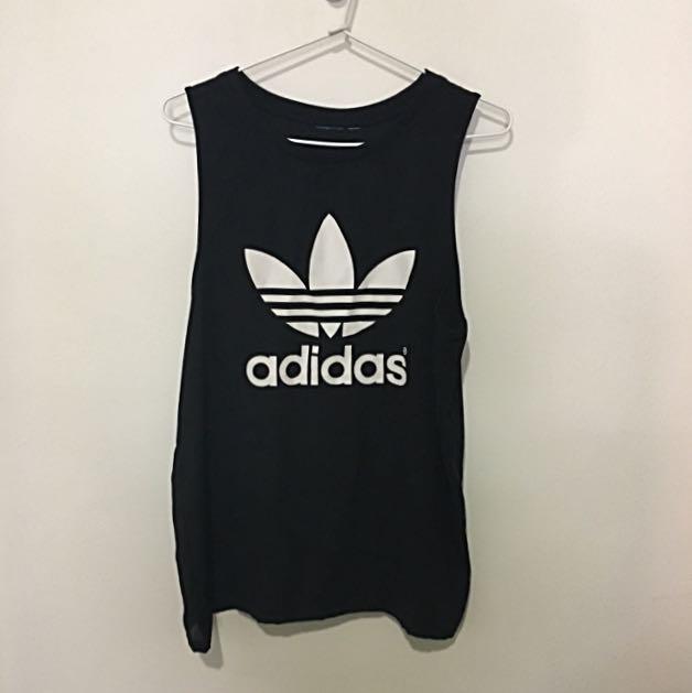 Adidas Size 10 Loose Black Singlet