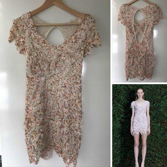 Aje Enchanted Garden Sequin Dress