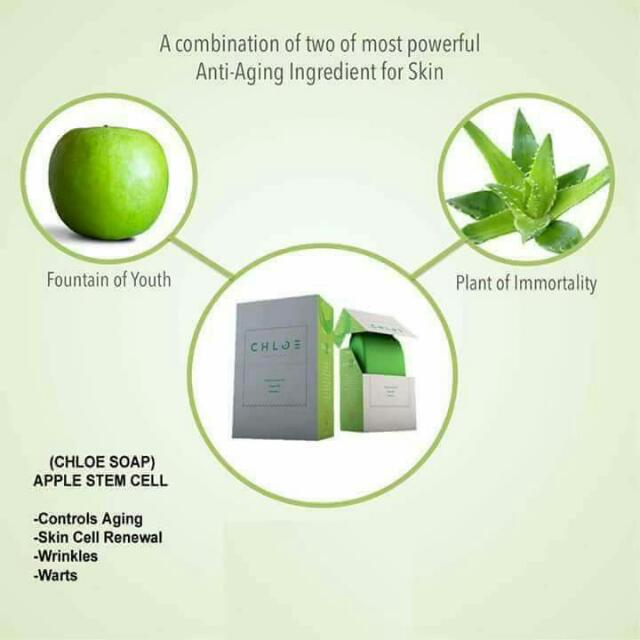 ***Apple Stem Cell Soap (Chloe) -Controls Aging -Skin Cell Renewal -Pimples -Wrinkles -Warts  ✓FDA Approved