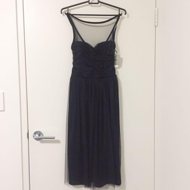 Asos black midi dress