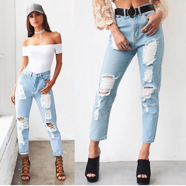 BACK IN STOCK! Tigermist High Waist Ripped Boyfriend Jean