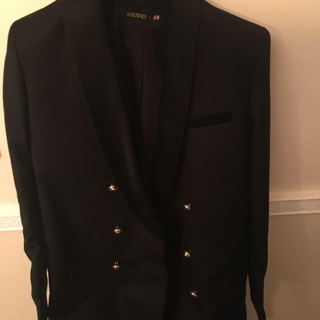 Balmain H And M Tuxedo Dress