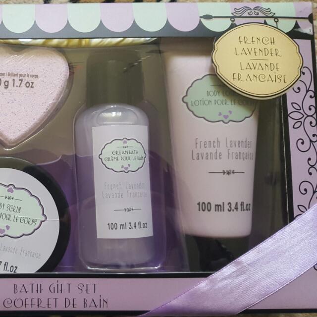 Bath Set. French Lavender