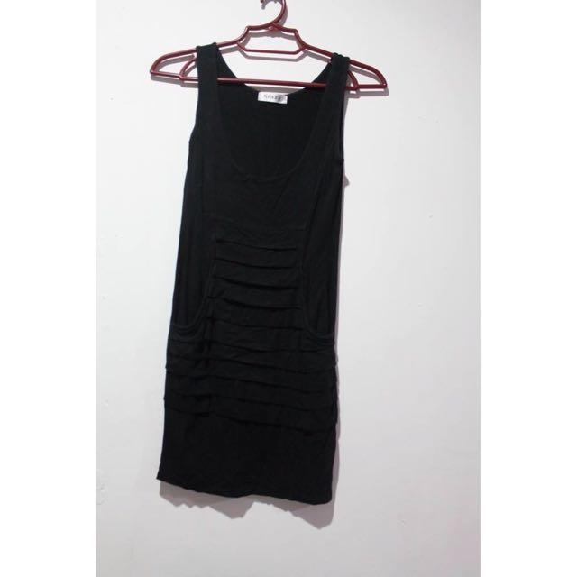 Black Bodycon Dress w pockets
