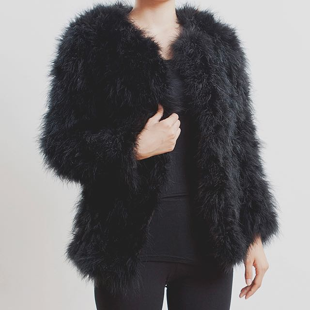 Black Fluffy Jacket Size Small