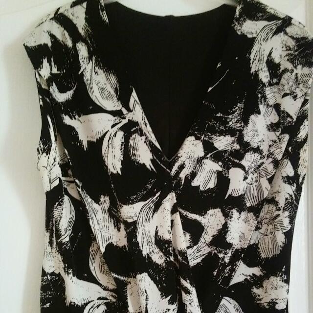 black &white dress