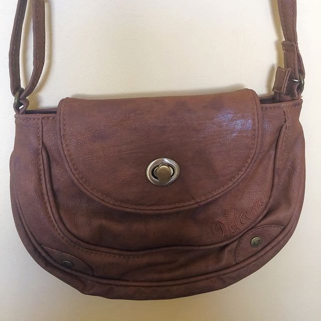 Brown Leather Volcom Handbag