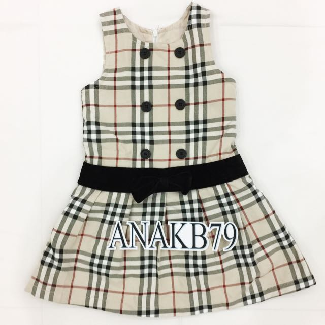 Burberry Inspired Dress Anak 3-4 Thn