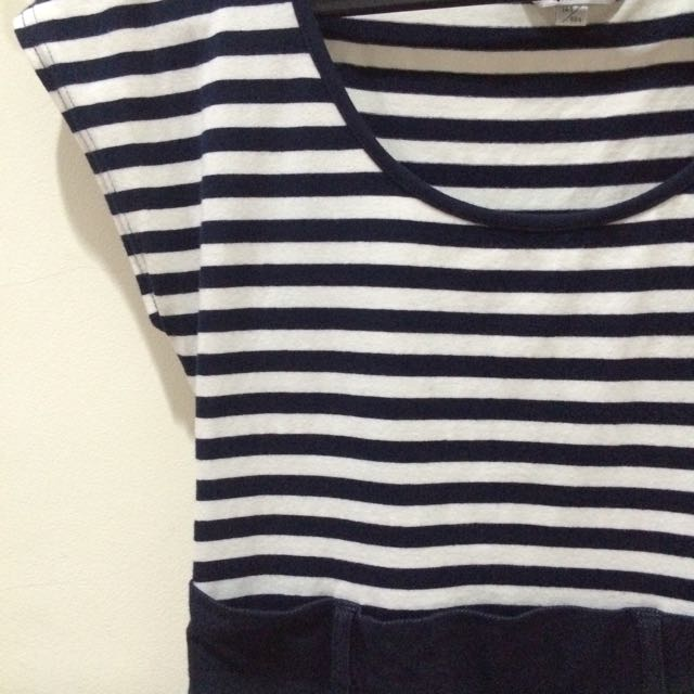 Cache Cache Navy Stripes Dress