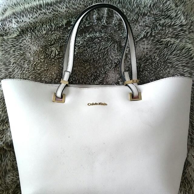 calvin klein white purse
