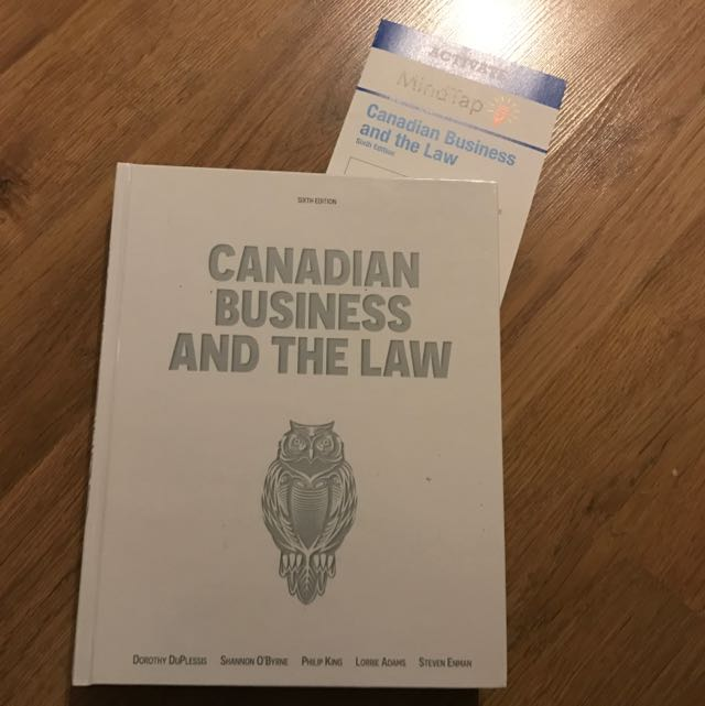 Canadian Business And The Law (6th Ed) With Mindtap