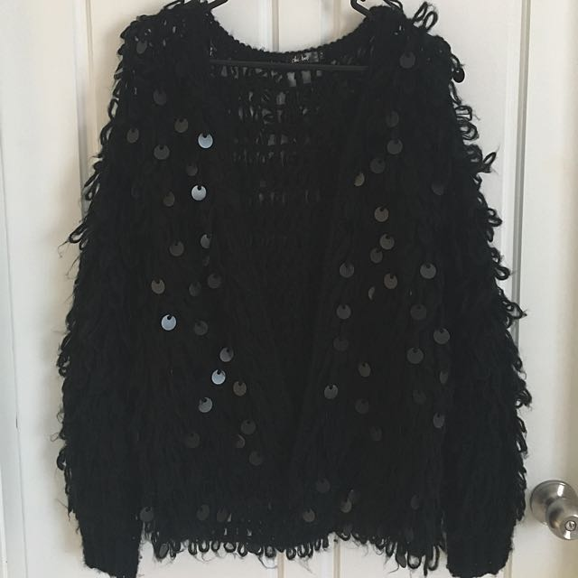 Chicabooti Fluffy Black Jacket Medium