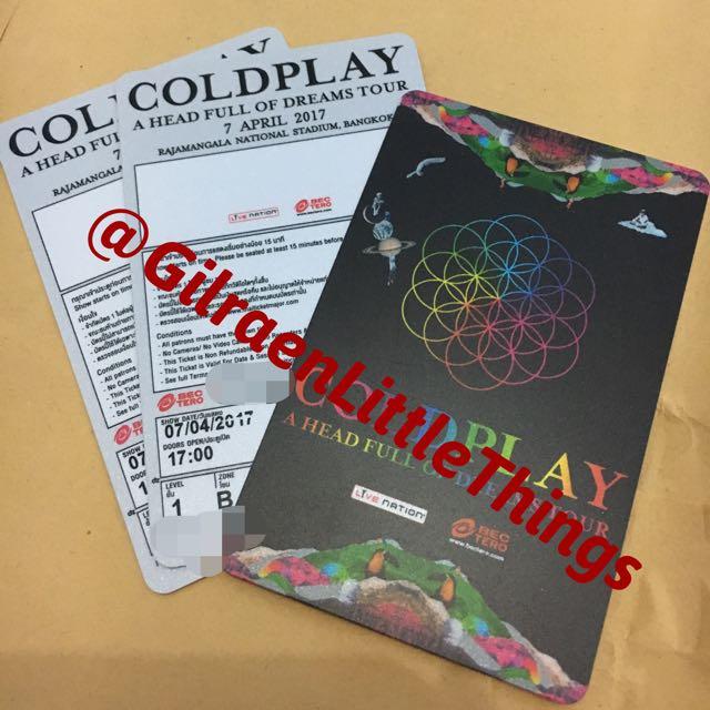 Coldplay Bangkok Standing B Tiket
