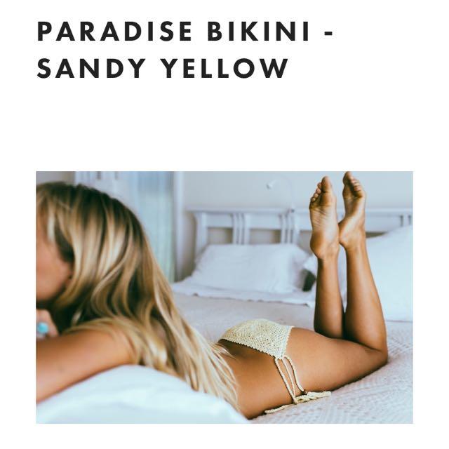 Crochet Sandy Yellow Bikini