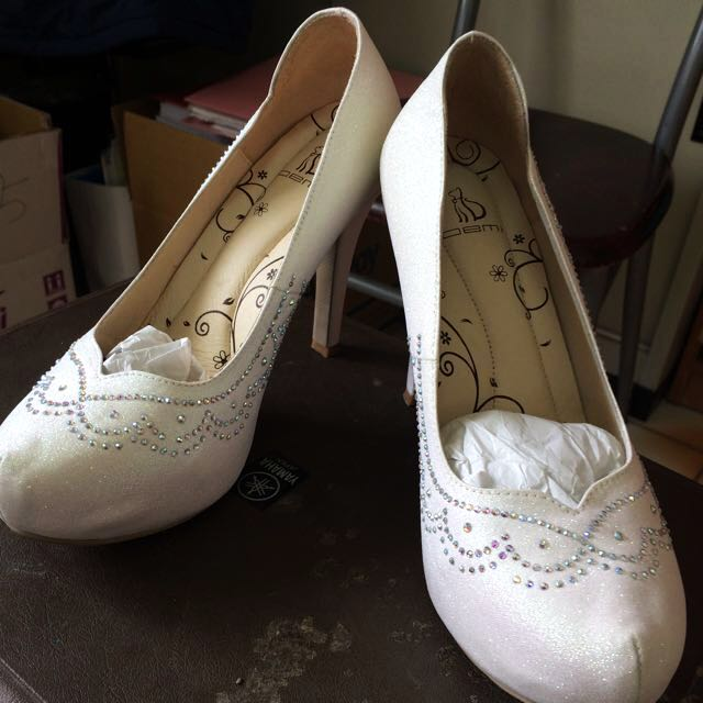 DEMi燙鑽婚鞋女鞋高跟鞋