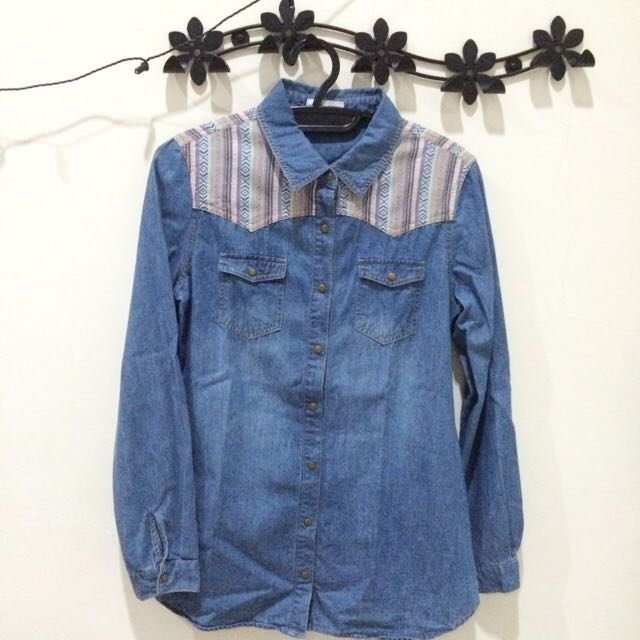 Denim Jacket Tribal