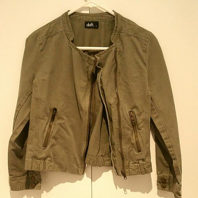 Dotti Army Green Jacket