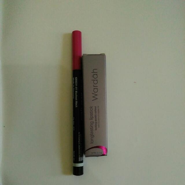 eyeliner silky girl & longlasting lipstick wardah