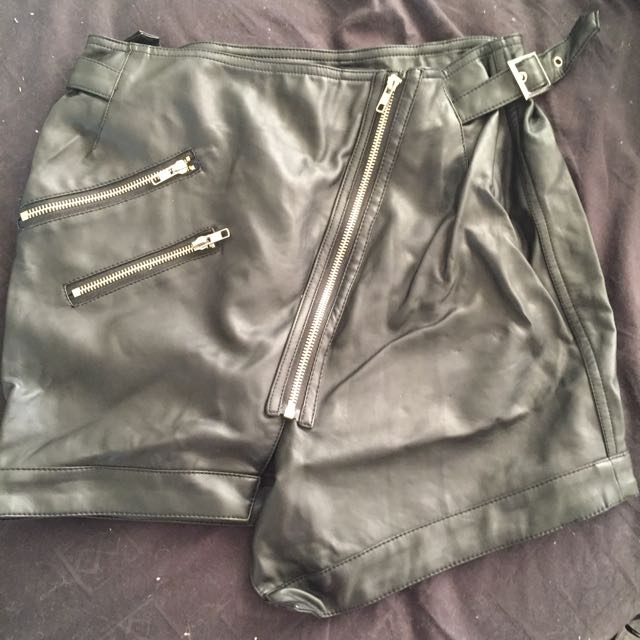 Faux Leather BNWOT Skirt Size 8
