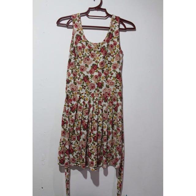 Floral Bodycon Sleeveless Dress