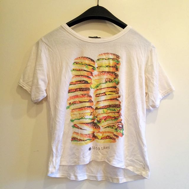 Graphic Tee With Hamburgers By Don't Ask Why