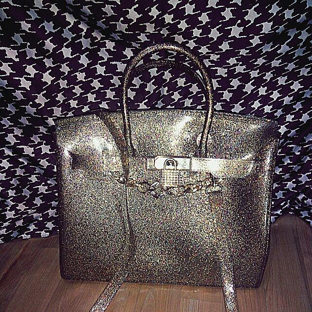 Hermes Jelly Gold Gliter Cantik