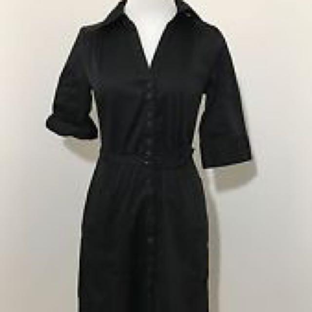 H&M Black Shirt Dress Size 12