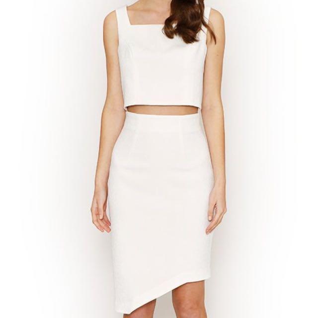 White Skirt - Honey & Beau