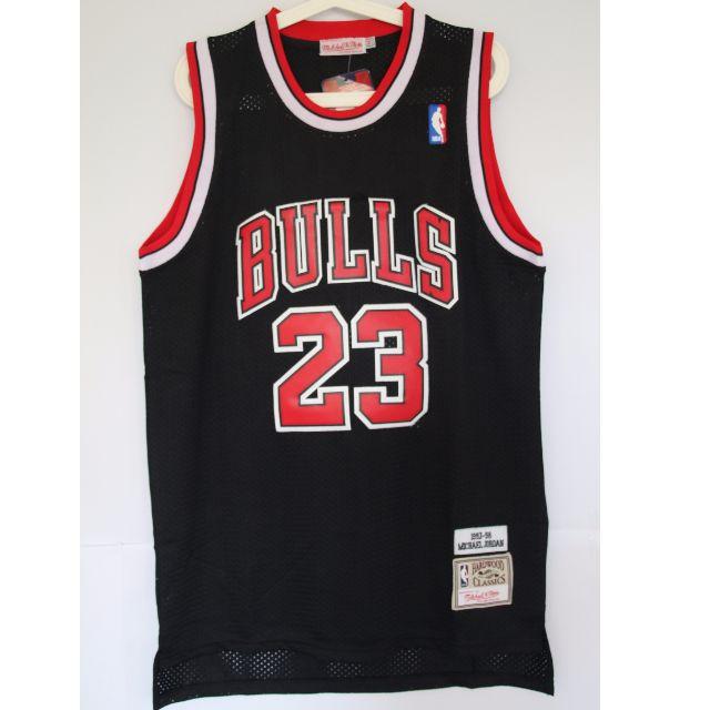 e0d7ab98a3d NBA Swingman Jersey Michael Jordan Chicago Bulls #23 Black Away Jersey,  Sports, Sports Apparel on Carousell