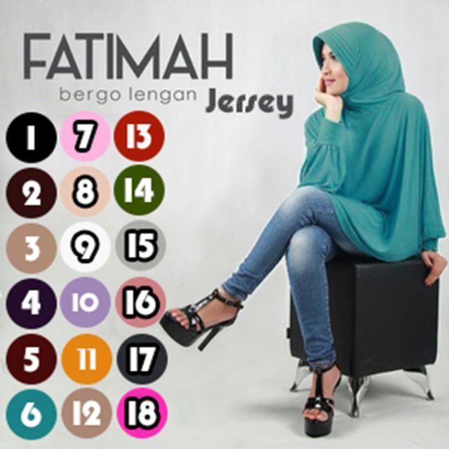 Jilbab Fatimah Bergo Lengan Jersey, Olshop Fashion, Olshop Muslim on Carousell