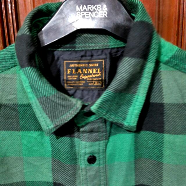 Kemeja Flanel Original wash, Uniqlo