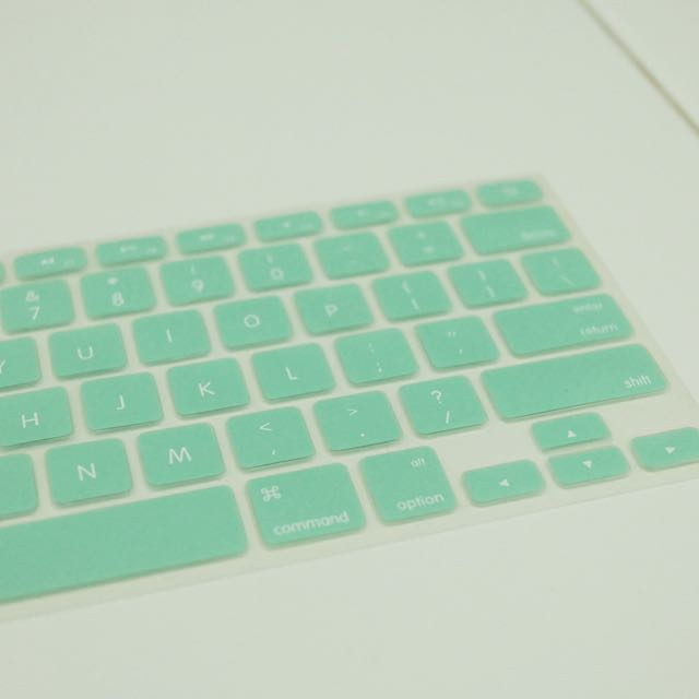 Keyboard Protector Macbook Mint Green Hijau