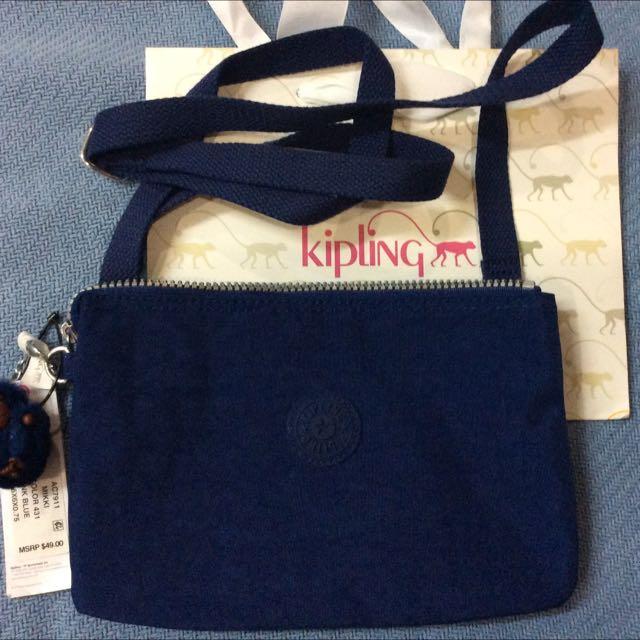 Kipling Mikki Blue Crossbag Authentic