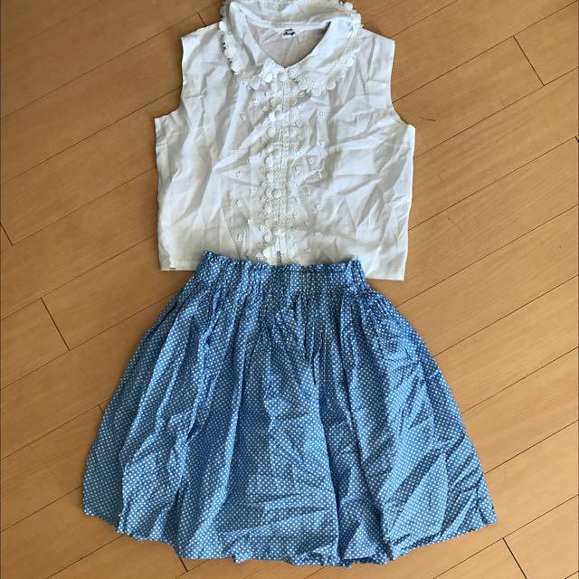Korean Blouse And Skirt