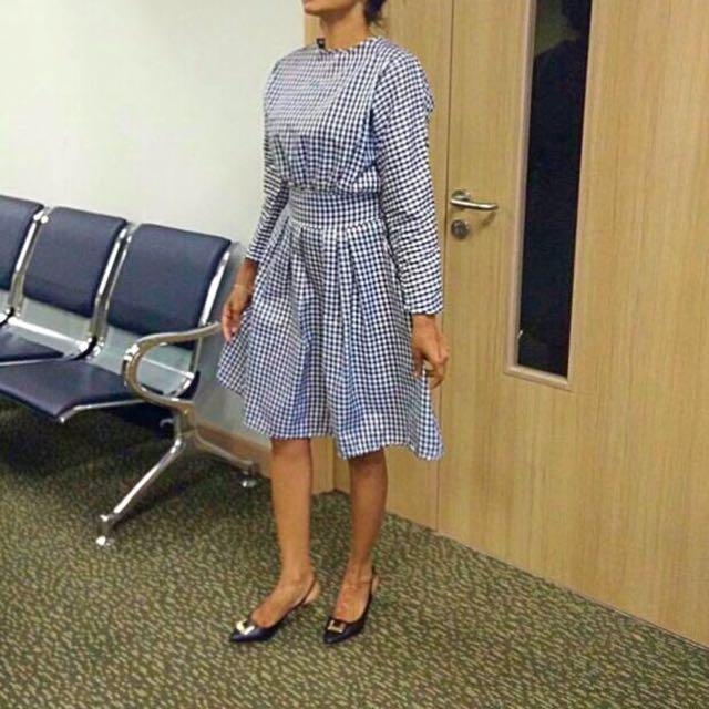 Korean Checkered Dress