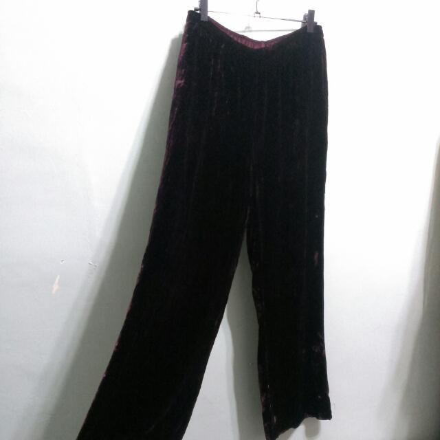 Laura Ashley復古絲絨長褲 S-M號