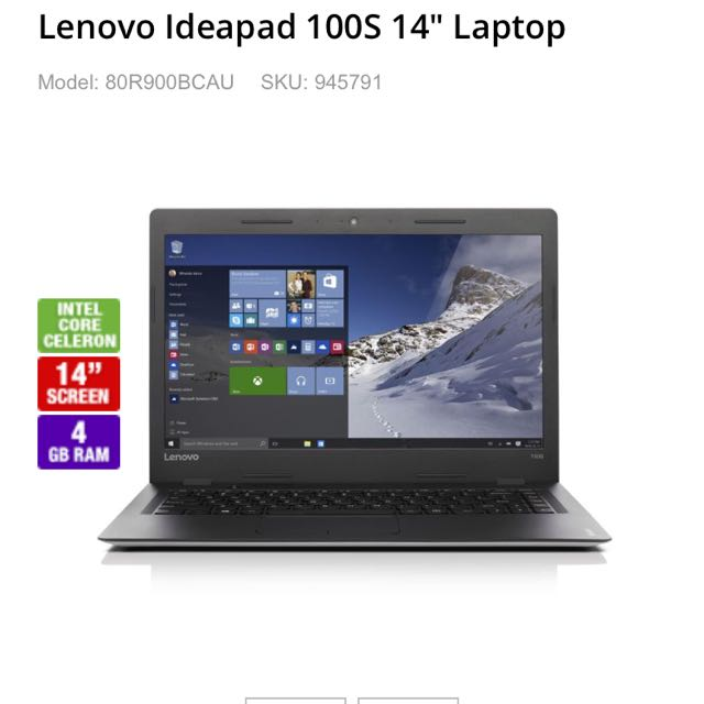 Lenovo Ideapad 100S 14 Inch Laptop