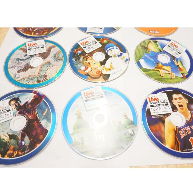 Live互動英語CD ROM-MP3八片一起出售