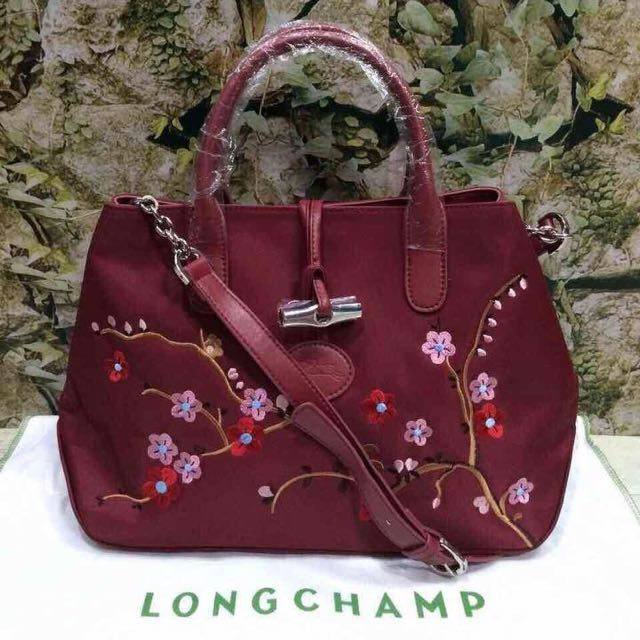 Longchamp Roseau Nylon Crossbody