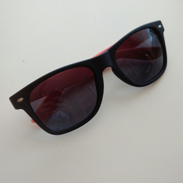 Matte Black & Pink Sunglasses